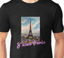 J'aime Paris (I Love Paris) Eiffle Tower Unisex T-Shirt