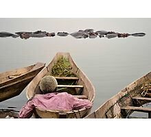 man on the boat Photographic Print