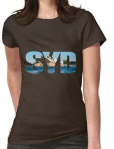 Sydney Opera House Design Womens Fitted T-Shirt