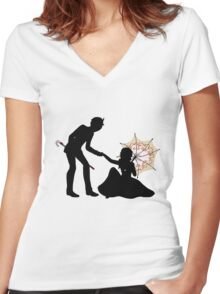 A Criminal's Day Out Women's Fitted V-Neck T-Shirt