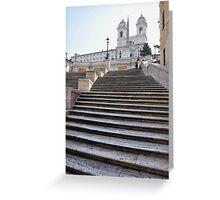 Spanish Steps Greeting Card