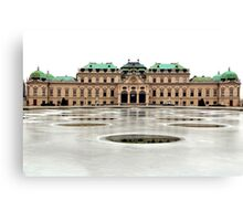 The Belvedere Palace in Vienna Canvas Print