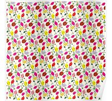 Persian Paper Pattern - Cream Floral Poster