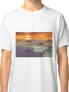 English Countryside Sunset Impressionist Classic T-Shirt