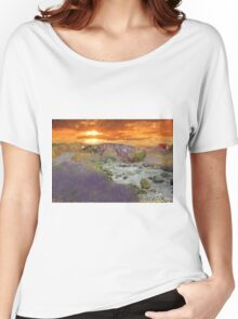 English Countryside Sunset Impressionist Women's Relaxed Fit T-Shirt