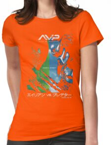 Alien Vs. Predator Japan Poster Womens Fitted T-Shirt