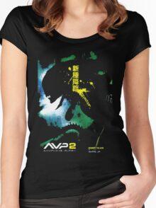 Alien Vs. Predator 2 Japan Poster Women's Fitted Scoop T-Shirt