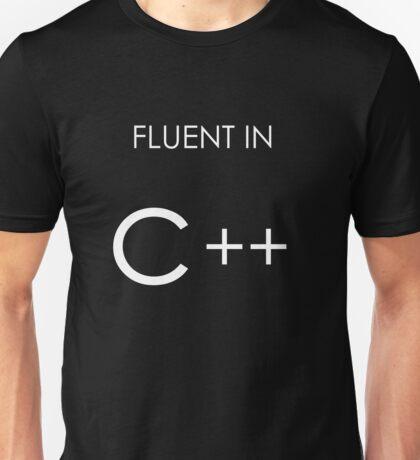 Fluent in C++ Unisex T-Shirt