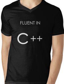 Fluent in C++ Mens V-Neck T-Shirt