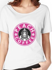 PEACH COFFEE Women's Relaxed Fit T-Shirt