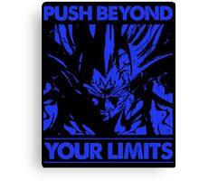 dragon ball majin vegeta push beyond your limits Canvas Print