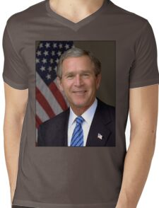 George W Bush American President Mens V-Neck T-Shirt