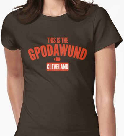 This Is The GPODAWUND (Orange) Womens Fitted T-Shirt