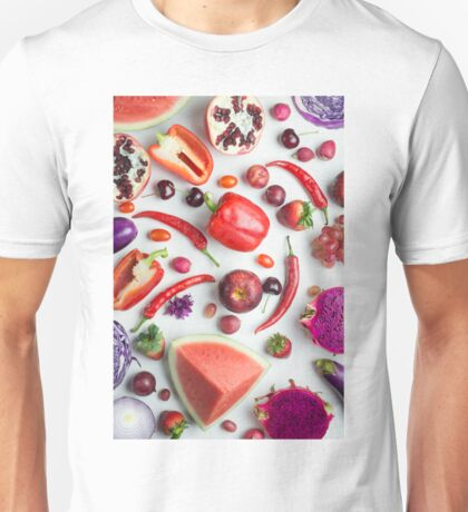 Red food on white Unisex T-Shirt