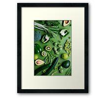 Greed raw food Framed Print