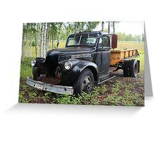 Old truck in Alaska Greeting Card