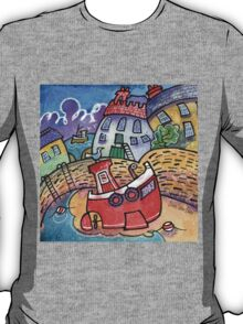 Lobster boat, Tenby, West Wales T-Shirt