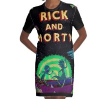 Run Rick And Morty Graphic T-Shirt Dress