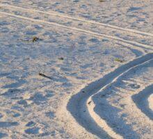 Wheelchair tracks on the beach Sticker