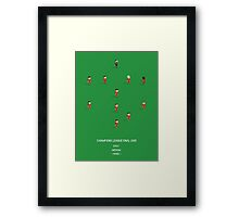 Liverpool 2005 - Starting Eleven (Formation) [Text] Framed Print