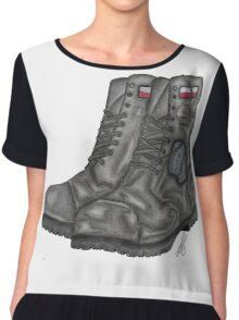 Polish MIA Boots Chiffon Top