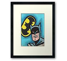 Retro B-man Framed Print