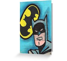 Retro B-man Greeting Card