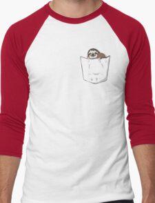Sloth in a pocket Men's Baseball ¾ T-Shirt