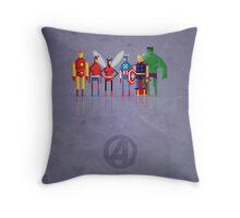 8-Bit Marvels Avengers Throw Pillow