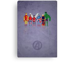 8-Bit Marvels Avengers Canvas Print