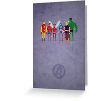 8-Bit Marvels Avengers Greeting Card