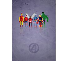 8-Bit Marvels Avengers Photographic Print