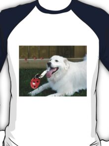 OH...LADYBUG ...THATS A COOL DRINK OF WATER...(CANINE-LADYBUG) - PICTURE & CARD & PILLOW -TOTE BAG T-Shirt