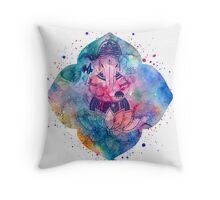 Ganesha on the lotus Throw Pillow