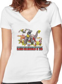 dinobots transformers Women's Fitted V-Neck T-Shirt