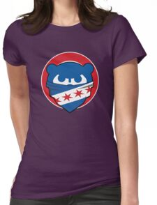 Cubbies Chicago Flag Bandana Face Womens Fitted T-Shirt