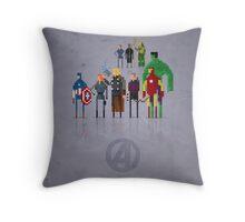 8-Bit Marvels Avengers Movie Throw Pillow