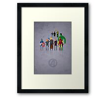 8-Bit Marvels Avengers Movie Framed Print