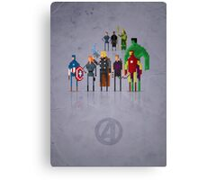 8-Bit Marvels Avengers Movie Canvas Print