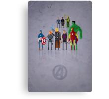 8-Bit Marvels Avengers Movie Canvas Print