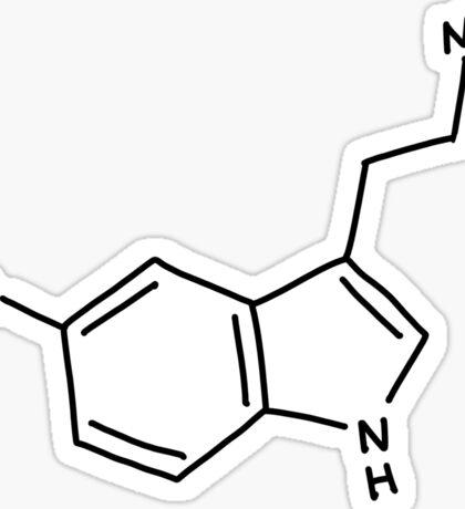 Serotonin, hand drawn molecular structure Sticker