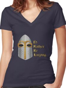 I'd rather be LARPing Women's Fitted V-Neck T-Shirt