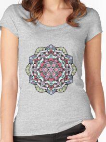 Flowers mandala #38 Women's Fitted Scoop T-Shirt
