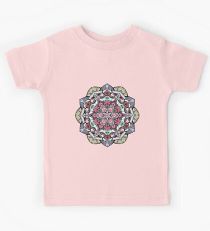 Flowers mandala #38 Kids Tee