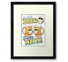 Drink Beer Save Water Framed Print
