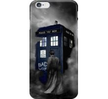 Hazy Bad Blue Police Public Call Box  iPhone Case/Skin