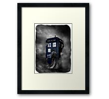 Hazy Bad Blue Police Public Call Box  Framed Print