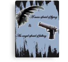 Destiel - A man afraid of flying & an angel afraid of falling Canvas Print