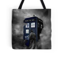 Hazy Bad Blue Police Public Call Box  Tote Bag