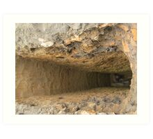 hole in the rock Art Print
